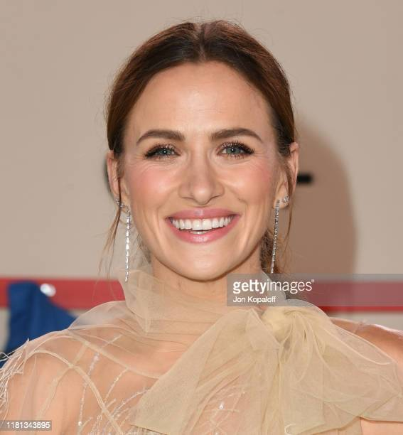 Shantel VanSanten attends the World Premiere Of Apple TV's For All Mankind at Regency Village Theatre on October 15 2019 in Westwood California