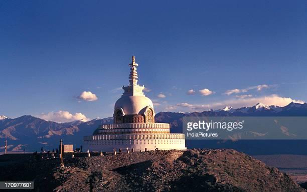 Shanti Stupa at Leh Ladakh Jammu and Kashmir India