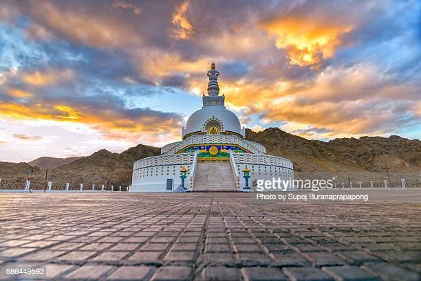 Shanti Stupa at Leh ladakh