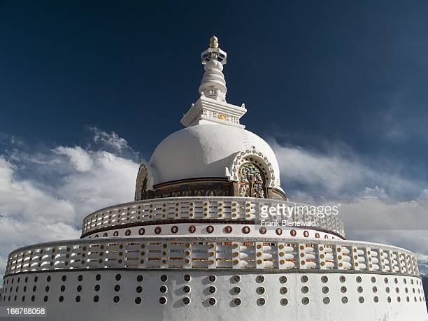 Shanti Stupa in Leh a japanese gift to Ladakh to commemorate 2500 years of Buddhism and to promote World Peace