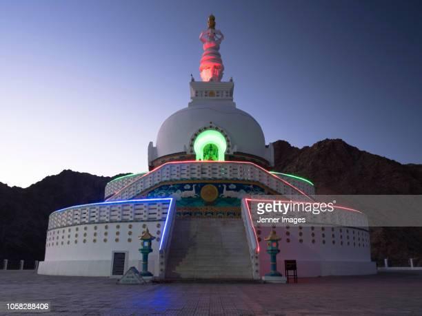Shanti Stupa in Leh, Ladakh.