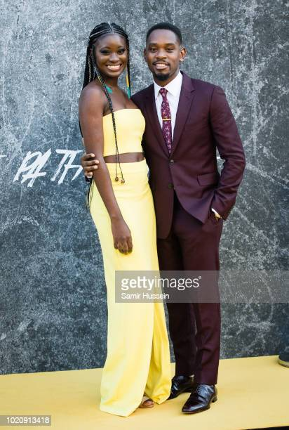 Shantol Jackson and Aml Ameen attend the UK premiere of 'Yardie' at BFI Southbank on August 21 2018 in London England