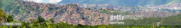 shanty chaos and poverty in a latin america - caracas stock pictures, royalty-free photos & images