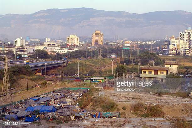 shanty town in navi mumbai - barracks stock pictures, royalty-free photos & images