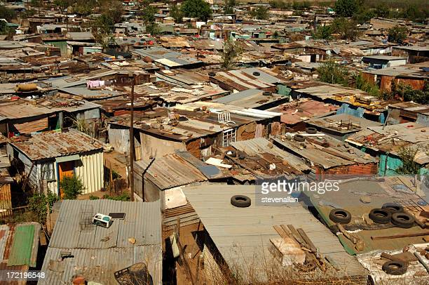 Shantytown shacks Soweto Township South Africa