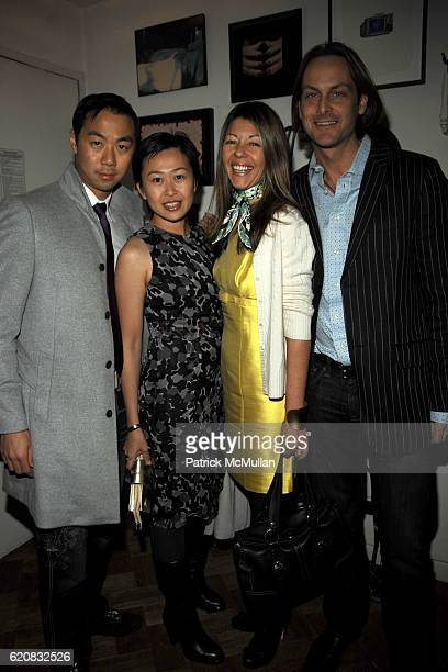 Shaokao Cheng Niki Cheng Sally Randall Brunger and Andrew Brunger attend Party To Celebrate The Publication of BRIAN ANTONI's Novel 'SOUTH BEACH' at...
