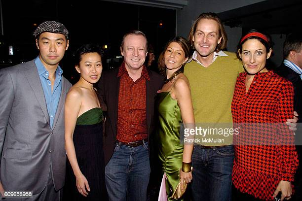 Shaokao Cheng Nikki Cheng Patrick McMullan Sally Randall Brunger Andrew Brunger and Lisa Edelstein attend KolDesign/BoConcept 5th Annual Holiday...