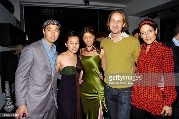 Shaokao Cheng Nikki Cheng Sally Randall Brunger Andrew Brunger and Lisa Edelstein attend KolDesign/BoConcept 5th Annual Holiday Party at BoConcept on...