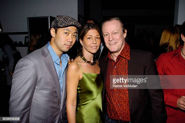 Shaokao Cheng Sally Randall Brunger and Patrick McMullan attend KolDesign/BoConcept 5th Annual Holiday Party at BoConcept on December 11 2007 in New...
