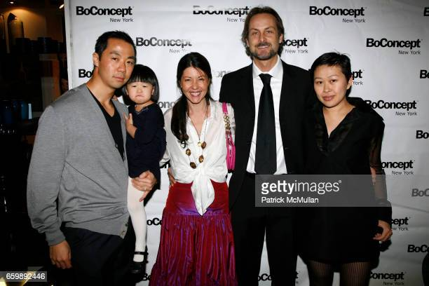 Shaokao Cheng Sienna Cheng Sally Randall Brunger Andrew Brunger and Niki Cheng attend 7th Annual BoCONCEPT/KOLDESIGN Holiday Party at Bo Concept...