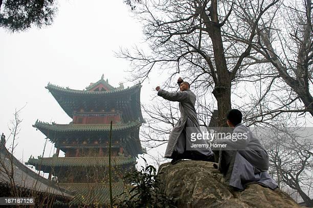 MONASTERY ZHENGZHOU HENAN CHINA Shaolin Monastery or Shaolin Temple a Chan Buddhist temple on Mount Song near Dengfeng Zhengzhou Henan province China...