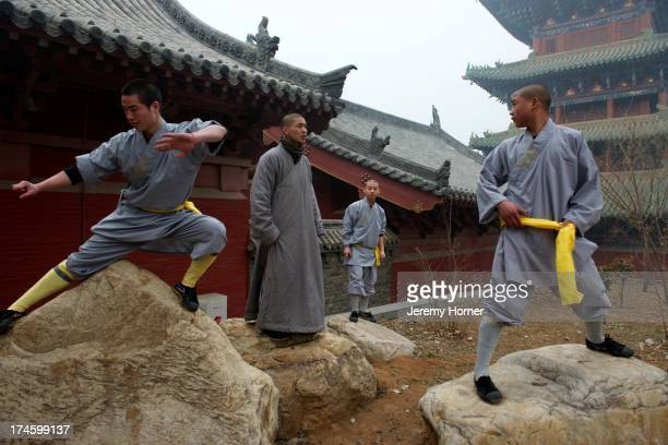 MONASTERY ZHENGZHOU HENAN CHINA Shaolin Monastery or Shaolin Temple a Chan Buddhist temple on Mount Song near Dengfeng Zhengzhou Henan province China...