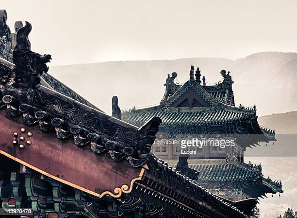 shaolin temple - henan province stock photos and pictures