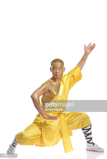 shaolin warrior monk - kung fu yoga stock pictures, royalty-free photos & images