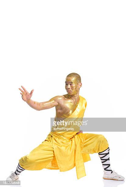 shaolin warrior monk - kung fu stock photos and pictures