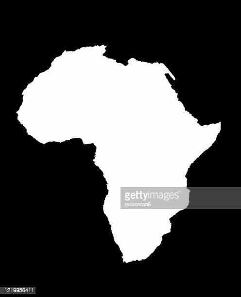 shape of the continent of africa - africa stock pictures, royalty-free photos & images