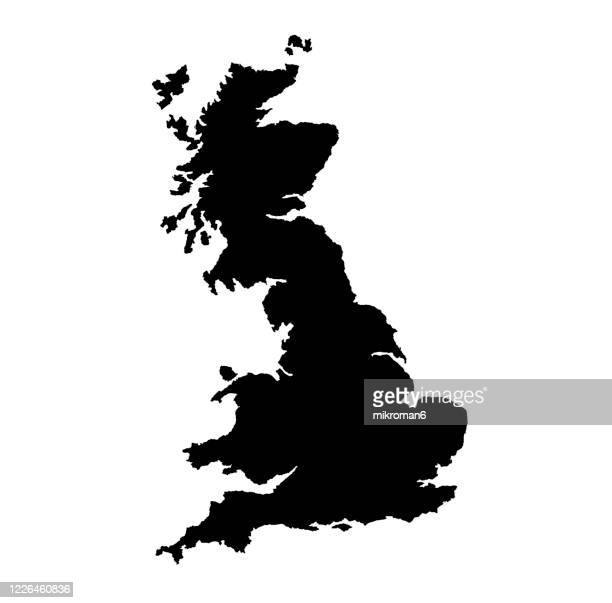 shape of the england island, british island - famous place stock pictures, royalty-free photos & images