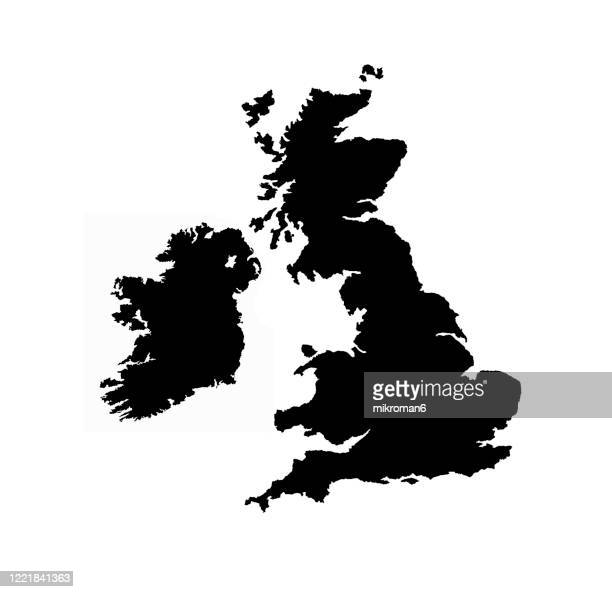 shape of the ireland island and uk - uk stock pictures, royalty-free photos & images