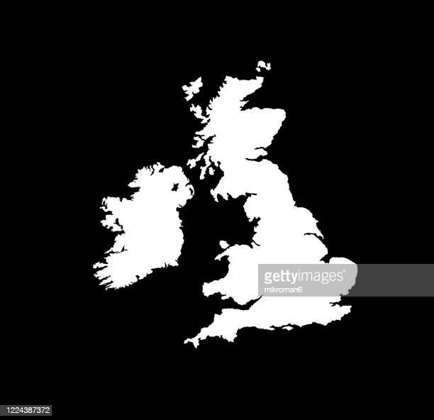 shape of the ireland island and uk - map stock pictures, royalty-free photos & images