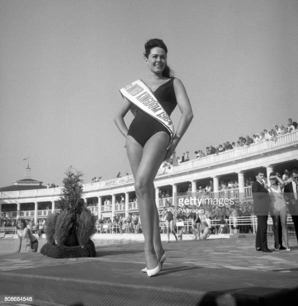 Shapely Ann Sidney, 20 year old hair stylist from Parkstone, Dorset, after she had been elected Miss United Kingdom at Blackpool, Lancashire.