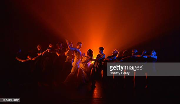 Shaping Sound Dance Company performs at Shaping Sound Dance Company's First National Tour Launch at the El Portal Theater on May 19 2013 in North...