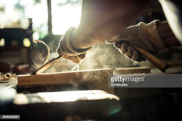 shaping wood - craftsman stock photos and pictures