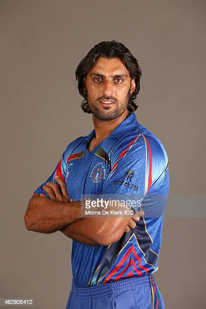 Shapoor Zadran poses during the Afghanistan 2015 ICC Cricket World Cup Headshots Session at the Intercontinental on February 7 2015 in Adelaide...