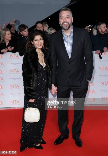 Shappi Khorsandi and Iain Lee attend the National Television Awards 2018 at the O2 Arena on January 23 2018 in London England