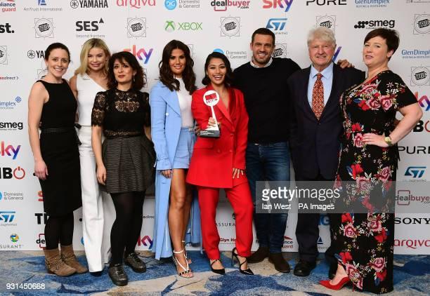 Shappi Khorsandi Rebekah Vardy Vanessa White Jamie Lomas Stanley Johnson and Georgia Toffolo with the award for Entertainment Programme Award...