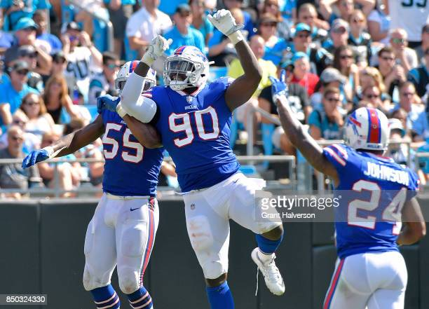 Shaq Lawson of the Buffalo Bills against the Carolina Panthers during their game at Bank of America Stadium on September 17 2017 in Charlotte North...