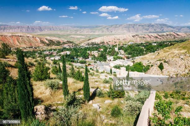 shaqlawa and beya valley overview - iraq stock pictures, royalty-free photos & images