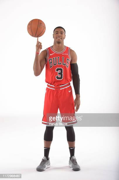 Shaquille Harrison of the Chicago Bulls poses for a portrait during 2019 NBA Media Day on September 30 2019 at the Advocate Center in Chicago...