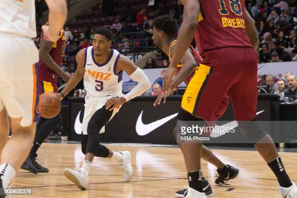 Shaquille Harrison of the Northern Arizona Suns dribbles the ball against the Canton Charge during the NBA GLeague Showcase on January 12 2018 at the...