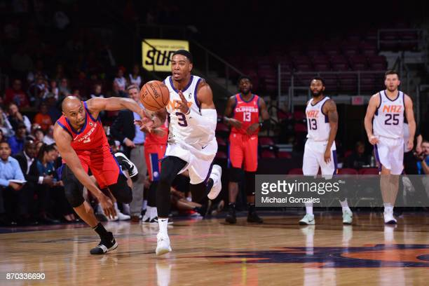 Shaquille Harrison of the Northern Arizona Suns handles the ball against the Agua Caliente Clippers on November 4 2017 at Prescott Valley Event...