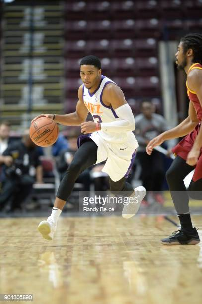 Shaquille Harrison of the Northern Arizona Suns handles the ball against the Canton Charge during the GLeague Showcase on January 12 2018 at the...