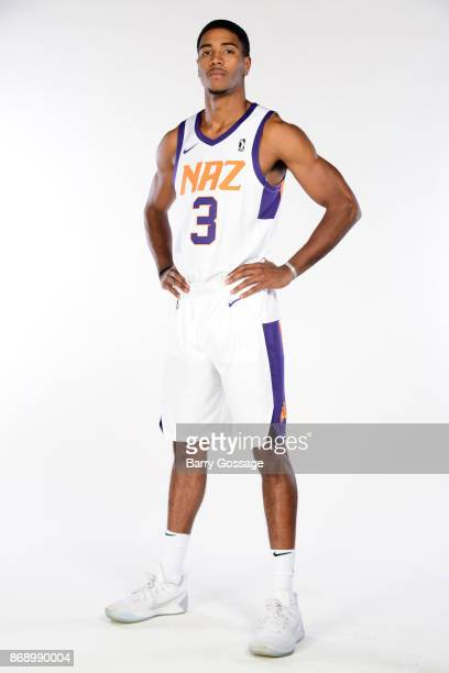 Shaquille Harrison of the Northern Arizona Suns poses for a portrait during NBA GLeague media day on October 31 2017 at Prescott Valley Event Center...