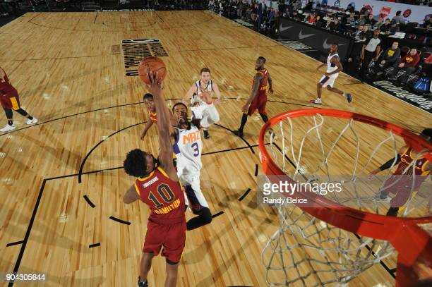 Shaquille Harrison of the Northern Arizona Suns shoots the ball against the Canton Charge during the GLeague Showcase on January 12 2018 at the...