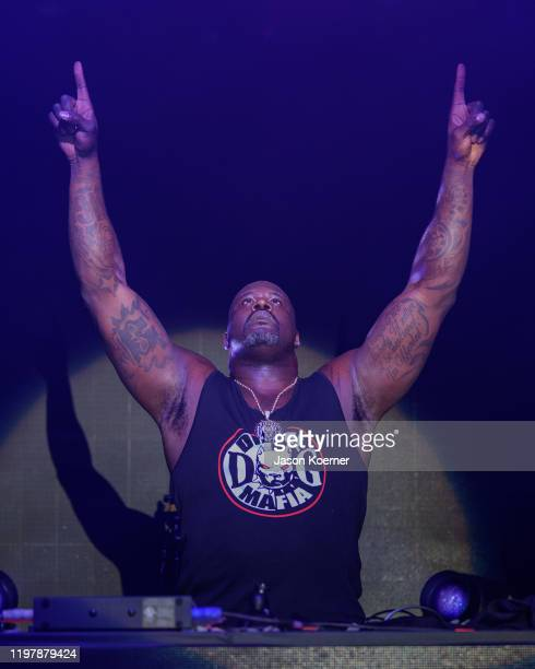 Shaquille O'neal also known by his stage name DJ Diesel performs onstage during Shaq's Fun House at Mana Wynwood Convention Center on January 31 2020...