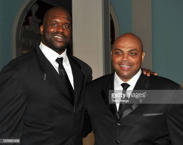 Shaquille O'Neal and Charles Barkley attend The Greenbrier for the gala opening of the Casino Club on July 2 2010 in White Sulphur Springs West...