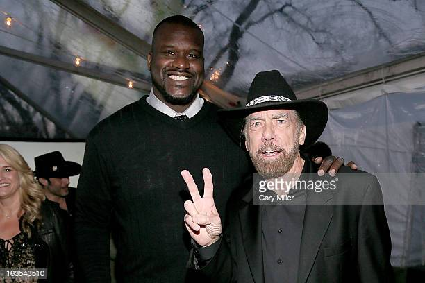 Shaquille O'Neal and John Paul DeJoria at the Forbes 30 Under 30 party at the estate of John Paul Elois DeJoria during the South By Southwest...