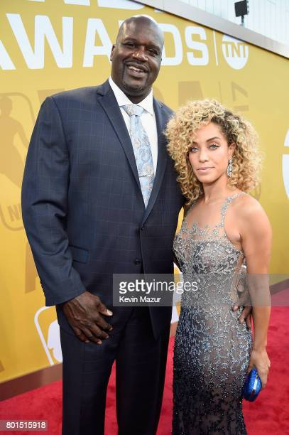 Shaquille O'Neal and Laticia Rolle attend the 2017 NBA Awards Live on TNT on June 26, 2017 in New York, New York. 27111_002