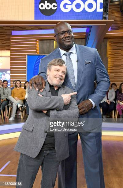Shaquille O'Neal and Mark Hamill are guests on 'Good Morning America' Friday March 22 airing on the ABC Television Network GMA19 MARK HAMILL...