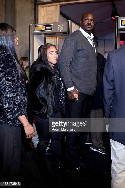 Shaquille O'Neal and Nicole Alexander attend ESPN The Magazine's NEXT Event on February 3 2012 in Indianapolis Indiana