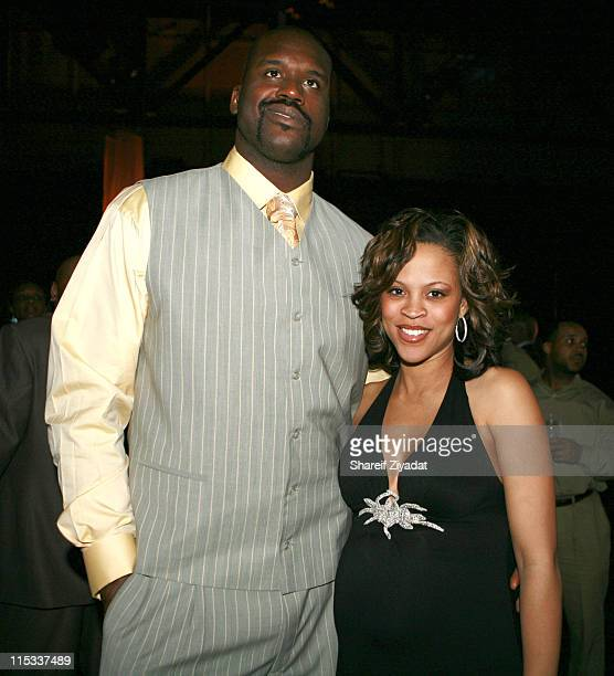 Shaquille O'Neal and Shaunie O'Neal during NBA Players Association Gala at Convention Center in Houston Texas United States