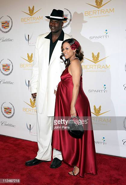 Shaquille O'Neal and Shaunie O'Neal during Shaq's 34th Scarface Birthday Party Arrivals at Indian Creek Island in Miami Beach Florida United States
