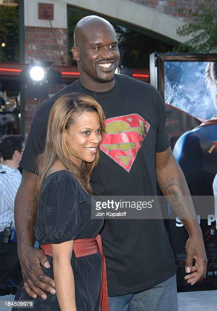 Shaquille O'Neal and Shaunie O'neal during Superman Returns Los Angeles Premiere Arrivals at Mann Village and Bruin Theaters in Westwood California...