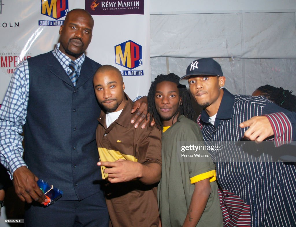 Shaq Gallery: Shaquille O'Neal And The Rap Group 'The Alliance' During