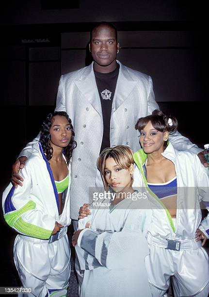 Shaquille O'Neal and TLC photographed during the 1995 Billboard Music Awards Lisa Left Eye Lopes was killed in a car crash in Honduras April 25 2002