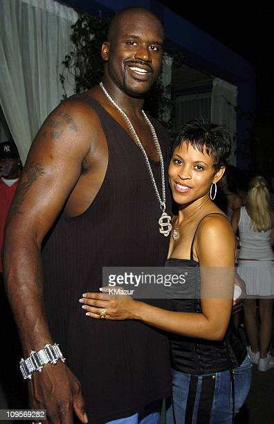 Shaquille O'Neal and wife Shaunie during The Usher Motorola Party at Shore Club in Miami Florida United States