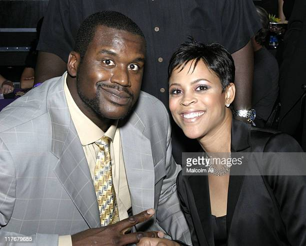 Shaquille O'Neal and wife Shaunie Nelson during Shaquille O'Neal Hosts PreSeason Party to Benefit the Lakers Youth Foundation at The New Avalon in...